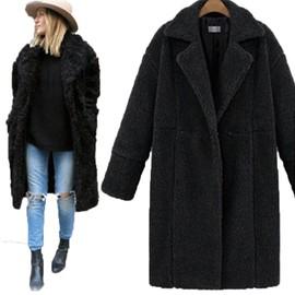 Section Moyenne Effet Unie Manteau Texture De Et Marque Femme Parke Couleur À Mouton Longue XgqSz8pwg