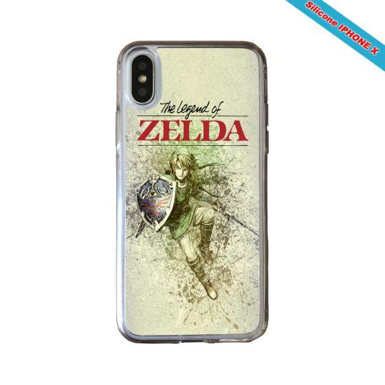 Coque silicone Iphone 11 verre trempé Fan de Zelda