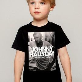 T-Shirt Enfant Fan de... Johnny Hallyday mon pays c'est l'amour