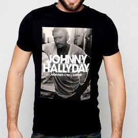 T-Shirt Fan de... Johnny Hallyday mon pays c'est l'amour