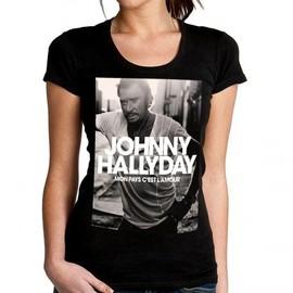 T-Shirt Femme Fan de... Johnny Hallyday mon pays c'est l'amour