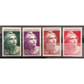 Série Marianne de Gandon - Grand - N° 730 731 732 733 Neufs** Luxe (= Sans Trace de Charnière) - Cote 21,50€ - France Année 1945 - N22157