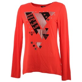 a225c43a6515e Tee Shirt Manches Longues Guess Etoiles Rge Ml Tee Girl Rouge 46811