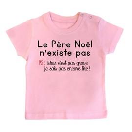 T-shirt bébé le père noel n'existe pas