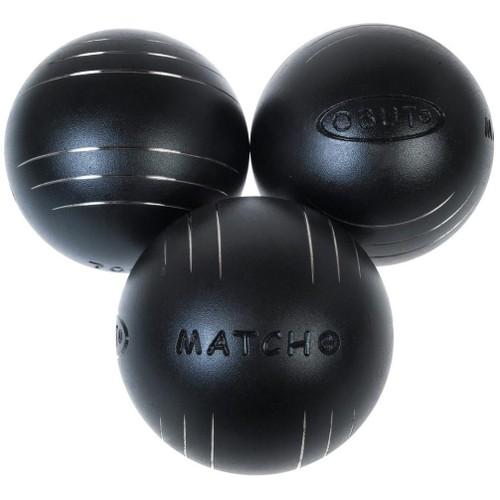 Boules De Pétanque Obut Match Plus 76mm Noir 60861