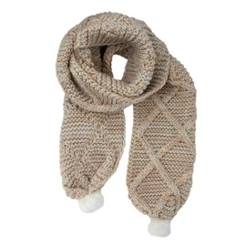 Only Écharpe Femme Tiffanie Knit Pompom Scarf 15160578 d82c20367df