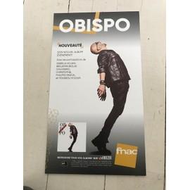 OBISPO PLV 2018 CALOGERO 20CM*15CM CARTON EPAIS FNAC