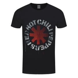 Red Hot Chili Peppers T-Shirt Stencil Homme Noir