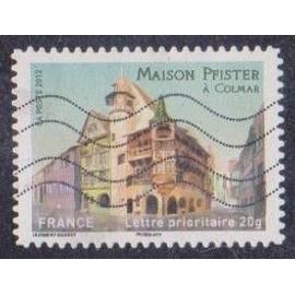 Timbre n° A.724 Y & T lettre prioritaire 20g. Châteaux et demeures historiques de nos régions du moyen-âge à l'époque moderne maison pfister à colmar