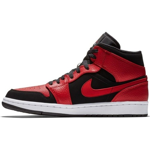 Chaussure Air Jordan 1 Mid Rouge Gym Red pour homme | Rakuten