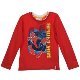 b5f40bcd17a7b Tee Shirt Manches Longues Spiderman Enfant Rouge