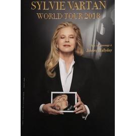 Sylvie VARTAN - Hommage Johnny HALLYDAY - 40x60cm - AFFICHE / POSTER envoi en tube