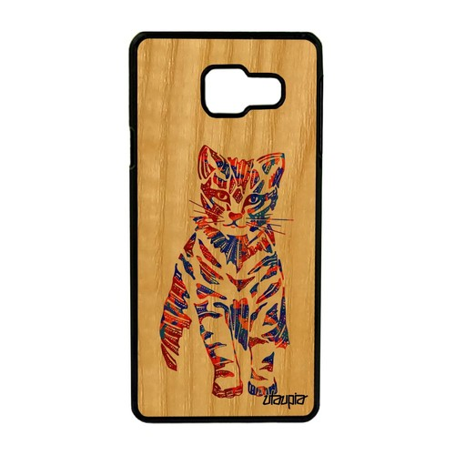 Coque Samsung A3 2016 bois silicone chat pastel petit animaux multicolore Samsung Galaxy A3 2016