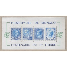 Monaco, Bloc-feuillet Y & T n° 33 centenaire du premier timbre, 1985