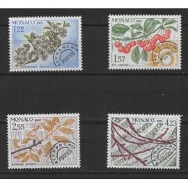 Monaco, timbres-poste préoblitérés Y & T n° 86 à 89 les quatre saisons du cerisier, 1985