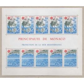 Monaco, Bloc-feuillet Y & T n° 34 protection de la mer méditerranée, europa, 1986