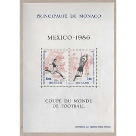 Monaco, Bloc-feuillet Y & T n° 35 coupe du monde de football, Mexico 86, 1986