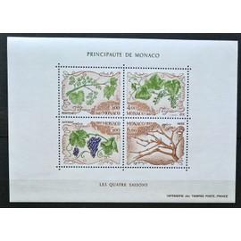 Monaco, Bloc-feuillet Y & T n° 38 les quatre saisons de la vigne, 1987