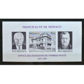 Monaco, Bloc-feuillet non dentelé Y & T n° 39 A 50 ans de l