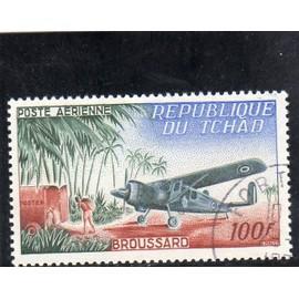 Timbre de poste aérienne du Tchad (Avion)