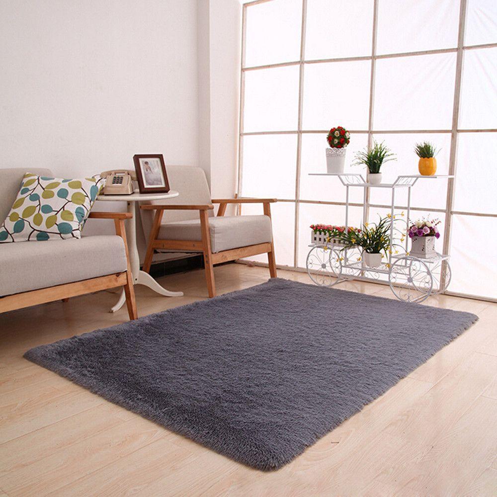 Soft SHAGGY Tapis de Bain Antidérapant Salle de Bain Tapis Microfibre tapis de sol 60x100 \ 50x46