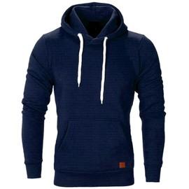 Yarui-World® Homme Sweat à Capuche Pull Sweatshirt Manche Longue Poche Veste Survêtement