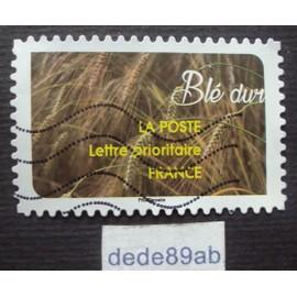 france.. une moisson de céréales : blé dur . oblitéré used stamp.