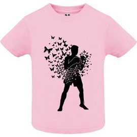 T-shirt - Float like butterfly sting like bee - Bébé Fille - Rose - 8 ans