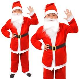 8f69f237c5a78 Déguisement Père Noël 5 Pièces Enfant - Y Compris  Un Veste Avec Un  Pantalon Assorti