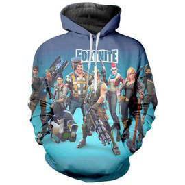 Fortnite vetement Pull Adult/Enfant Sweater-shirt Fortnite Pullover ? Capuche