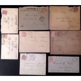Lot de 8 enveloppes avec