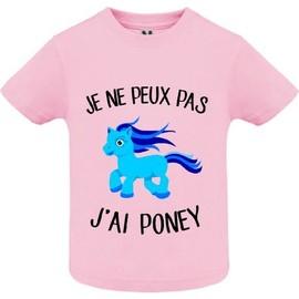 5d872bbbb2a38 T-Shirt Premium - Je Ne Peux Pas J Ai Poney - Bébé Fille -