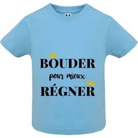 03929e3eb659e T-Shirt Premium - Bouder Pour Mieux Regner - Bébé Garçon - Bleu - 10