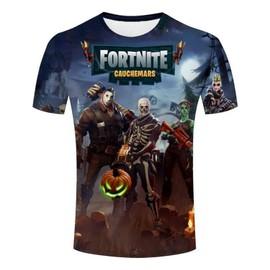 Fortnite T-shirt Homme Manches Courtes Imprimé Tee Shirt Fashion Tendance Col Rond