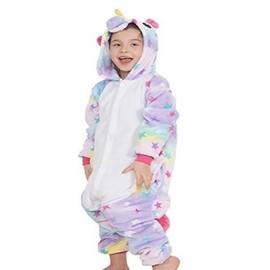 df257eed55432 Enfants Adulte Unisexe Animal Costume Cosplay Combinaison Licorne Pyjama  Nuit Vêtements Soirée De Déguisement