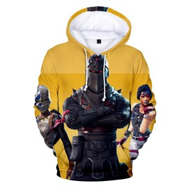 aebb8a986def6 Fortnite Vetement Pull Adult Enfant Sweater-Shirt Fortnite Pullover A  Capuche