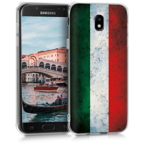 kwmobile Coque Compatible avec Samsung Galaxy J5 (2017) DUOS - Étui de Protection en Silicone - drapeau italien vert-blanc-rouge