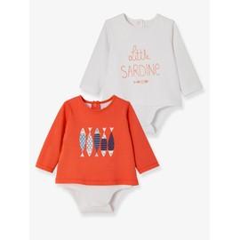 Lot De 2 T-Shirts - Bodies Motif Sardines (Vertbaudet) d1b98548d44