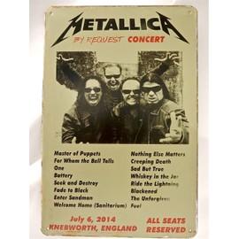 affiche de concert métallica en metal