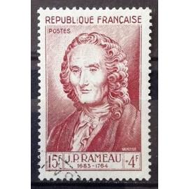 Célébrités 1953 - XII au XXème Siècle - Jean-Philippe Rameau 15f+4f Brun Carminé (Superbe n° 947) Obl - Cote 13,00€ - France Année 1953 - N23190