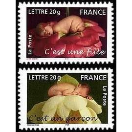 france 2005, très belle paire neuve** luxe timbres auto-adhésifs validité permanente lettre 20g., oeuvres d