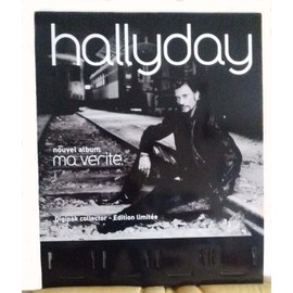 "RARE PLV JOHNNY HALLYDAY ""MA VERITE "" 77CM/95CM"