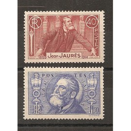 318 - 319 (1936) Les deux Jean Jaurès Neufs sans Gomme NSG (cote 19e) (6104)