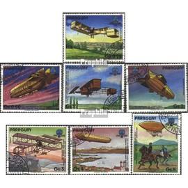 Paraguay 3698-3704 (complète.Edition.) oblitéré 1984 200 Années Aviation Aviation