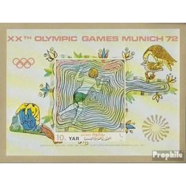 yémen du nord (arabes rep.) Bloc 164 (complète.Edition.) neuf avec gomme originale 1971 Sports dans moyen age jeux olympiques