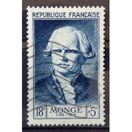 Célébrités 1953 - XII au XXème Siècle - Gaspard Monge 18f+5f Bleu (Superbe n° 948) Obl - Cote 13,50€ - France Année 1953 - N23369
