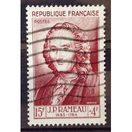 Célébrités 1953 - XII au XXème Siècle - Jean-Philippe Rameau 15f+4f Brun Carminé (Très Joli n° 947) Obl - Cote 13,00€ - France Année 1953 - N23368