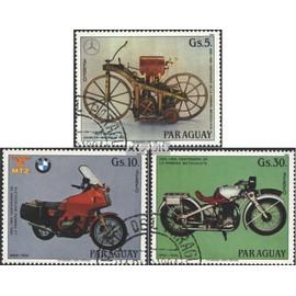 Paraguay 3821-3823 (complète.Edition.) oblitéré 1984 100 Années motos circulation routière