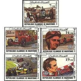mauritanie 749-753 (complète.Edition.) oblitéré 1982 grand Prix v. France circulation routière