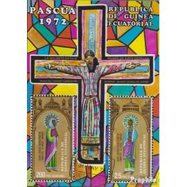 Äquatorialguinea Bloc 7 (complète.Edition.) oblitéré 1972 span. Peintures de moyen age Christianisme